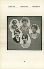 Page 24, 1921 Edition, Waite High School - Warrior Yearbook (Toledo, OH) online yearbook collection