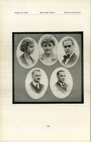 Page 30, 1921 Edition, Waite High School - Warrior Yearbook (Toledo, OH) online yearbook collection