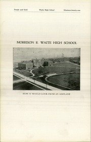 Page 8, 1921 Edition, Waite High School - Warrior Yearbook (Toledo, OH) online yearbook collection