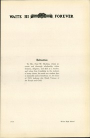 Page 11, 1923 Edition, Waite High School - Warrior Yearbook (Toledo, OH) online yearbook collection