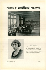 Page 16, 1923 Edition, Waite High School - Warrior Yearbook (Toledo, OH) online yearbook collection