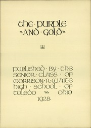Page 9, 1928 Edition, Waite High School - Warrior Yearbook (Toledo, OH) online yearbook collection