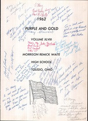 Page 5, 1962 Edition, Waite High School - Warrior Yearbook (Toledo, OH) online yearbook collection