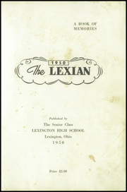 Page 7, 1950 Edition, Lexington High School - Lexian Yearbook (Lexington, OH) online yearbook collection