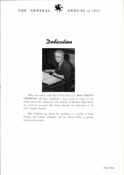 Page 9, 1947 Edition, Wooster High School - General Yearbook (Wooster, OH) online yearbook collection