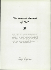 Page 7, 1951 Edition, Wooster High School - General Yearbook (Wooster, OH) online yearbook collection