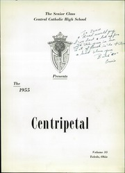Page 5, 1955 Edition, Central Catholic High School - Centripetal Yearbook (Toledo, OH) online yearbook collection