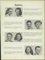 Page 19, 1951 Edition, Clyde High School - Courier Yearbook (Clyde, OH) online yearbook collection