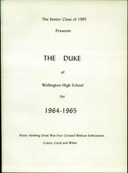 Page 5, 1965 Edition, Wellington High School - Duke Yearbook (Wellington, OH) online yearbook collection