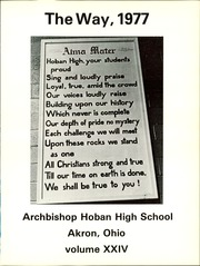Page 5, 1977 Edition, Archbishop Hoban High School - Way Yearbook (Akron, OH) online yearbook collection