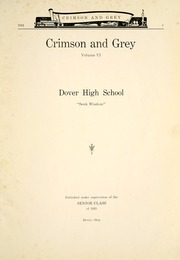 Page 9, 1921 Edition, Dover High School - Swirl Yearbook (Dover, OH) online yearbook collection