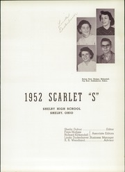Page 5, 1952 Edition, Shelby High School - Scarlet S Yearbook (Shelby, OH) online yearbook collection
