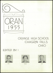 Page 5, 1955 Edition, Orange High School - Oran Yearbook (Pepper Pike, OH) online yearbook collection