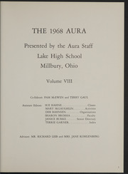 Page 5, 1968 Edition, Lake High School - Aura Yearbook (Millbury, OH) online yearbook collection