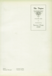 Page 5, 1949 Edition, Troy High School - Trojan Yearbook (Troy, OH) online yearbook collection