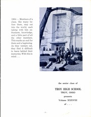 Page 3, 1964 Edition, Troy High School - Trojan Yearbook (Troy, OH) online yearbook collection