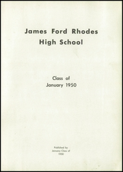 Page 5, 1950 Edition, Rhodes High School - Aries Yearbook (Cleveland, OH) online yearbook collection