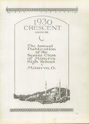 Page 7, 1930 Edition, Minerva High School - Crescent Yearbook (Minerva, OH) online yearbook collection