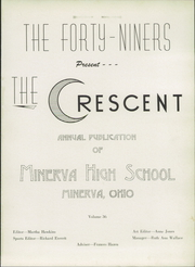 Page 5, 1949 Edition, Minerva High School - Crescent Yearbook (Minerva, OH) online yearbook collection