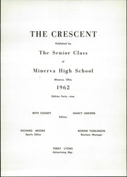 Page 5, 1962 Edition, Minerva High School - Crescent Yearbook (Minerva, OH) online yearbook collection