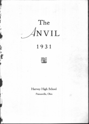 Page 2, 1931 Edition, Harvey High School - Anvil Yearbook (Painesville, OH) online yearbook collection