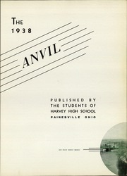 Page 9, 1938 Edition, Harvey High School - Anvil Yearbook (Painesville, OH) online yearbook collection