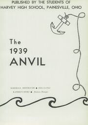 Page 9, 1939 Edition, Harvey High School - Anvil Yearbook (Painesville, OH) online yearbook collection