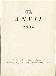 Page 7, 1940 Edition, Harvey High School - Anvil Yearbook (Painesville, OH) online yearbook collection