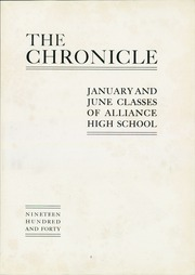 Page 7, 1940 Edition, Alliance High School - Chronicle Yearbook (Alliance, OH) online yearbook collection