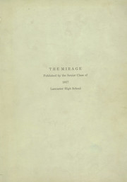 Page 1, 1917 Edition, Lancaster High School - Mirage Yearbook (Lancaster, OH) online yearbook collection