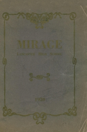 Page 1, 1920 Edition, Lancaster High School - Mirage Yearbook (Lancaster, OH) online yearbook collection