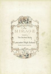 Page 7, 1925 Edition, Lancaster High School - Mirage Yearbook (Lancaster, OH) online yearbook collection