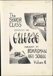 Page 9, 1936 Edition, Boardman High School - Crier Yearbook (Youngstown, OH) online yearbook collection