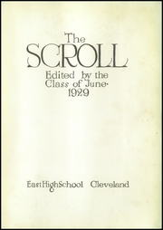 Page 7, 1929 Edition, East High School - Exodus Yearbook (Cleveland, OH) online yearbook collection