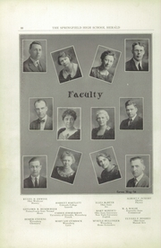 Page 12, 1924 Edition, Springfield Senior High School - Wildcat Yearbook (Springfield, OH) online yearbook collection
