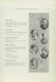 Page 15, 1925 Edition, Springfield Senior High School - Wildcat Yearbook (Springfield, OH) online yearbook collection