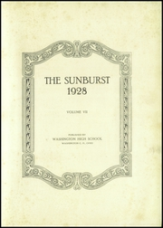 Page 5, 1928 Edition, Washington High School - Sunburst Yearbook (Washington Court House, OH) online yearbook collection