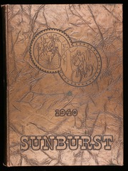 1940 Edition, Washington High School - Sunburst Yearbook (Washington Court House, OH)
