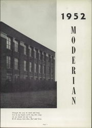 Page 7, 1952 Edition, Canton South High School - Moderian Yearbook (Canton, OH) online yearbook collection