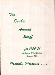 Page 5, 1951 Edition, Salem High School - Quaker Yearbook (Salem, OH) online yearbook collection