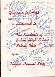Page 5, 1953 Edition, Salem High School - Quaker Yearbook (Salem, OH) online yearbook collection