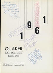 Page 5, 1961 Edition, Salem High School - Quaker Yearbook (Salem, OH) online yearbook collection