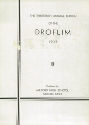 Page 7, 1935 Edition, Milford High School - Droflim Yearbook (Milford, OH) online yearbook collection