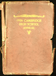 Cambridge High School - Cantab Yearbook (Cambridge, OH) online yearbook collection, 1926 Edition, Page 1