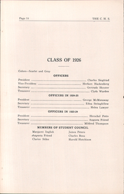 Page 14, 1926 Edition, Cambridge High School - Cantab Yearbook (Cambridge, OH) online yearbook collection