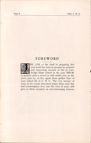 Page 8, 1926 Edition, Cambridge High School - Cantab Yearbook (Cambridge, OH) online yearbook collection