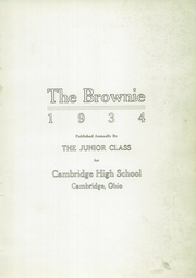 Page 5, 1934 Edition, Cambridge High School - Cantab Yearbook (Cambridge, OH) online yearbook collection