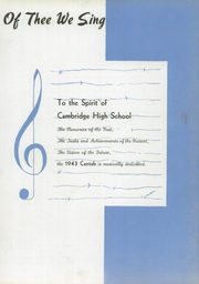 Page 9, 1943 Edition, Cambridge High School - Cantab Yearbook (Cambridge, OH) online yearbook collection