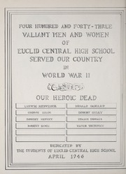 Page 8, 1946 Edition, Euclid High School - Euclidian Yearbook (Euclid, OH) online yearbook collection