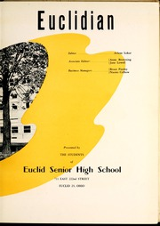 Page 7, 1952 Edition, Euclid High School - Euclidian Yearbook (Euclid, OH) online yearbook collection
